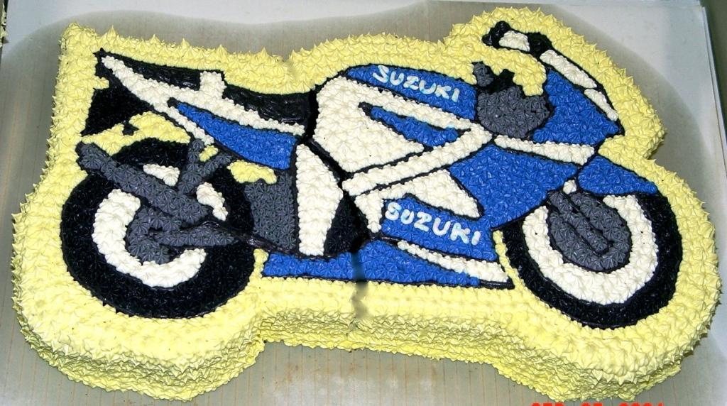 Торты картинки с мотоциклом